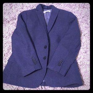 Boys blue blazer with tiny white dots